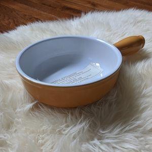 """🇫 New emile henry France caquelon 7"""" cookware pot"""